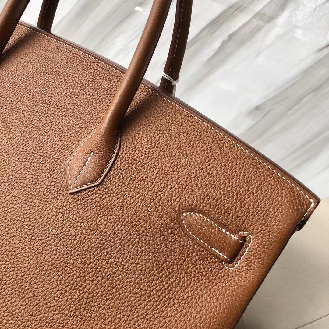 新北市愛馬仕男士鉑金包40CM價格 Hermes Birkin 40cm togo CK37 金棕色