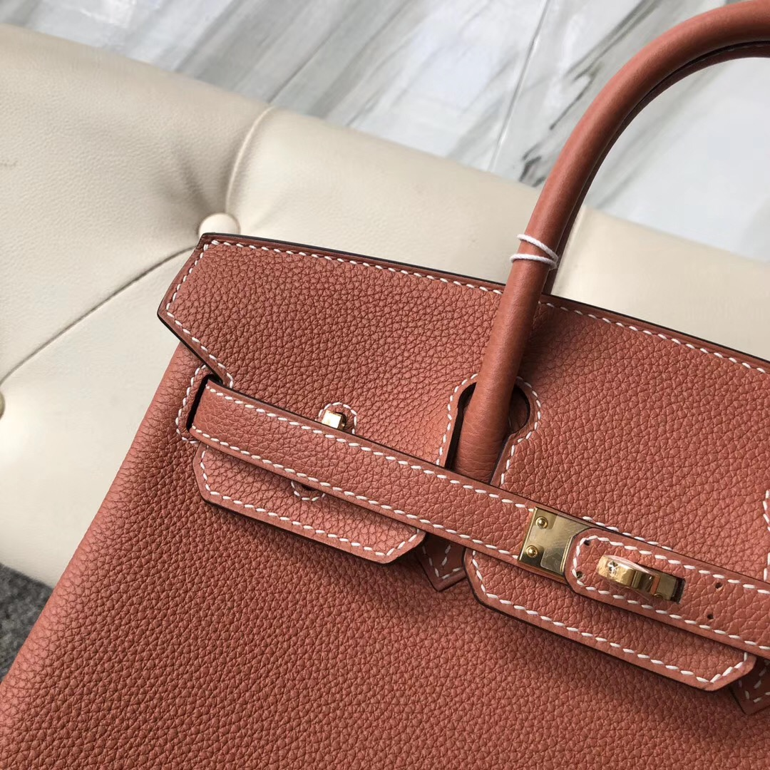 香港西貢區 愛馬仕鉑金包25價格 Hermes Birkin 25cm 4E Sienna 楓葉棕
