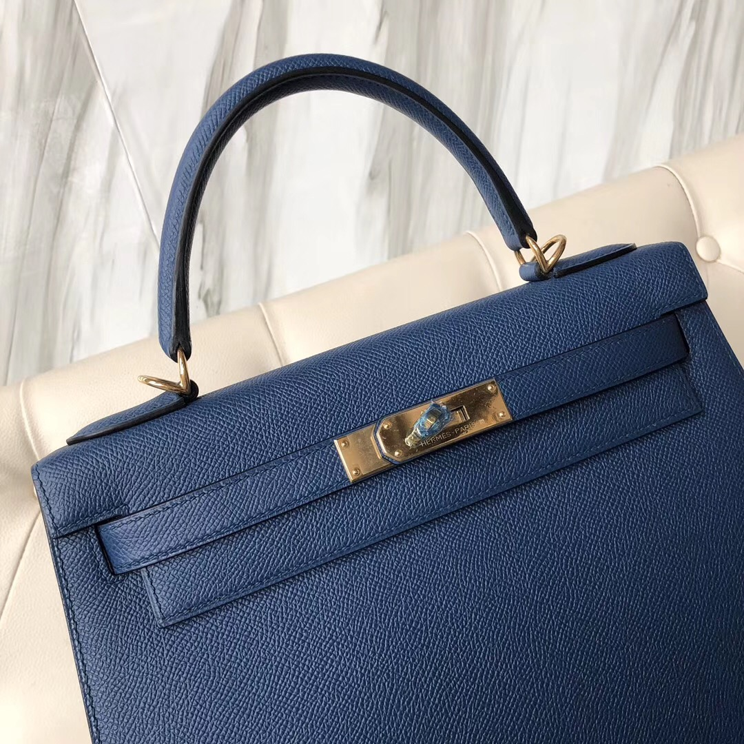 愛馬仕凱莉包價格 Singapore Hermes Kelly 28cm CCS4深邃藍 Deep Blue