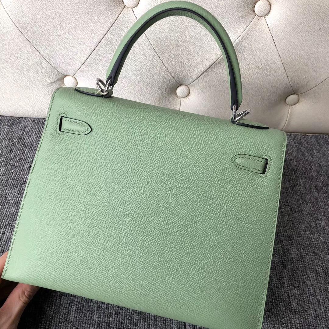 香港島中西Hong Kong Hermes Kelly 25cm 3I牛油果綠 Vert Criquet 蟋蟀綠