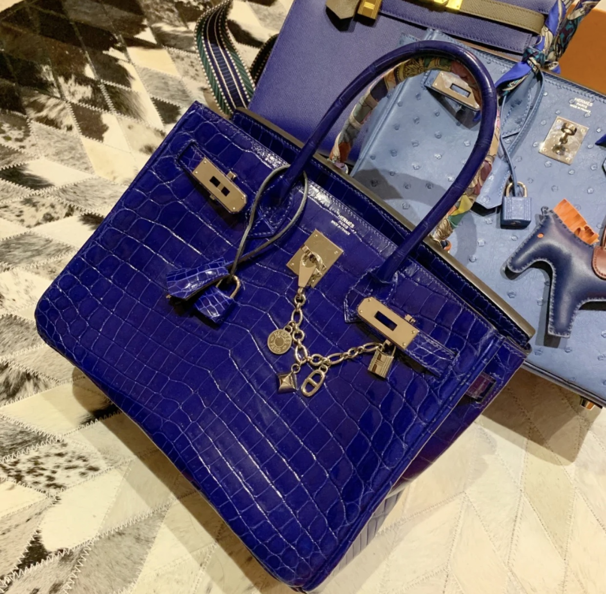 Hermes Birkin 25cm 7Q 希臘藍 Blue Mykonos 7T blue electric 電光藍