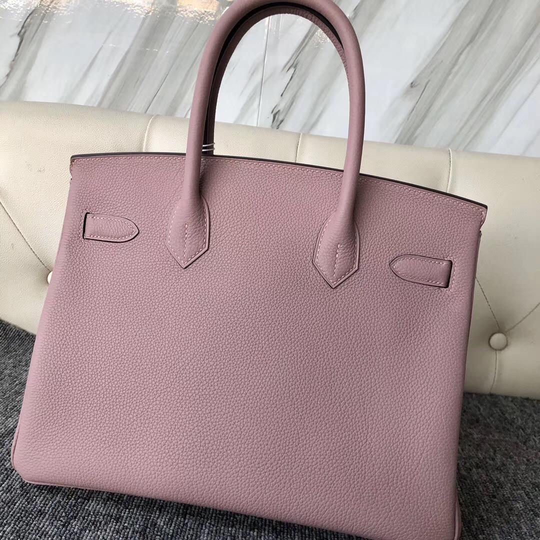 愛馬仕鉑金包30專櫃價格多少錢 Hermes Birkin 30cm 4W Glycine 紫藤粉
