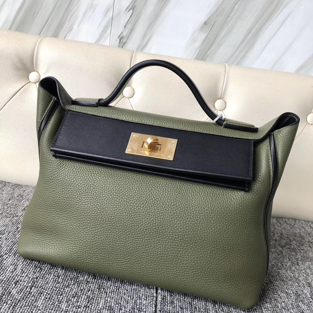 Singapore Hermes Kelly 24/24 taurillon Maurice Swift V6叢林綠 Canopee CK89