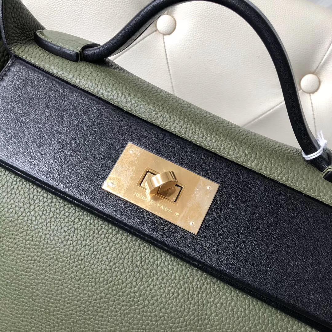 Singapore Hermes Kelly 24/24 taurillon Maurice Swift V6叢林綠 Canopee CK89