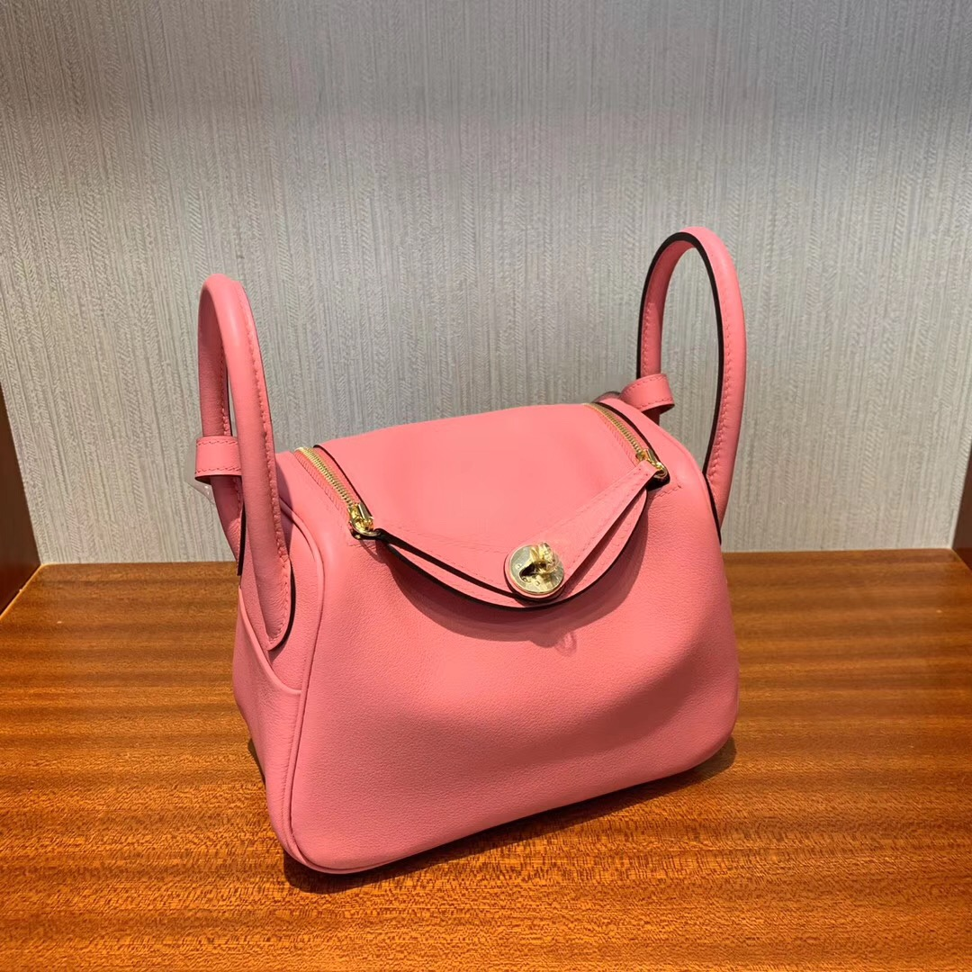 愛馬仕lindy mini價格多少錢 Hermes Lindy mini 8w Rose Azalee 新唇膏粉 Swift