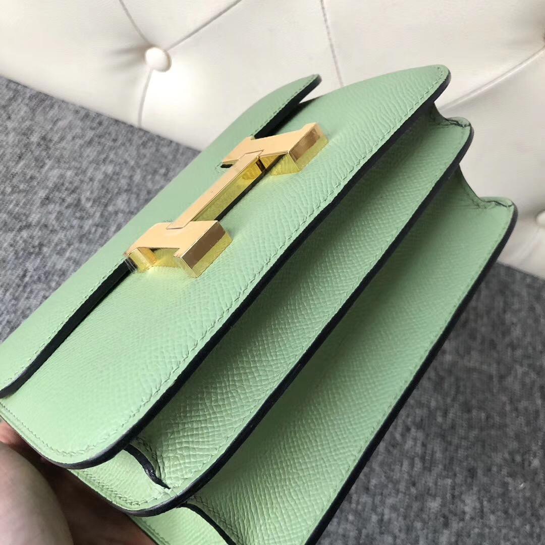 香港灣仔區 Hermes Constance 19cm New 3I牛油果綠 Vert Criquet 蟋蟀綠