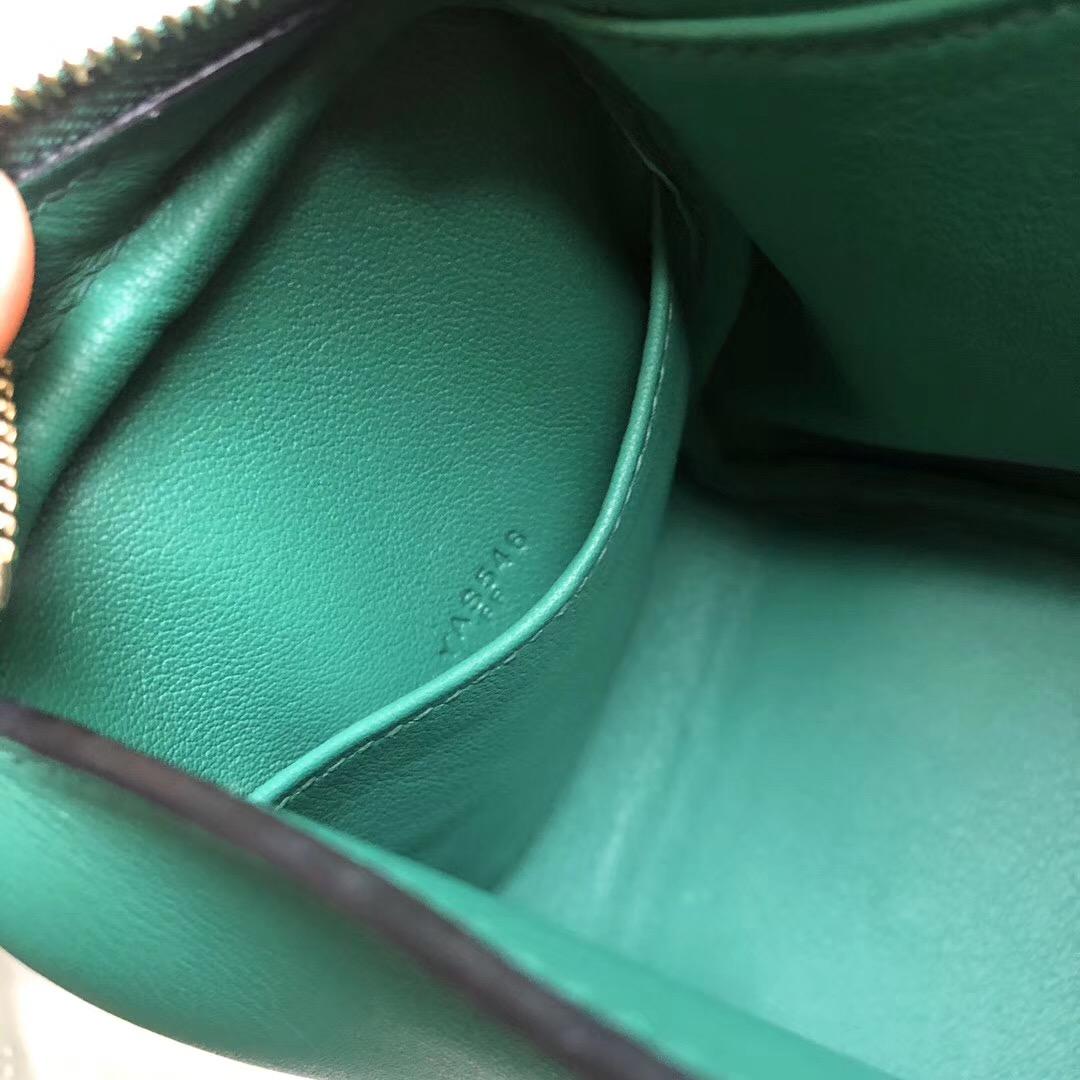 愛馬仕lindy mini多少錢 Hermes Mini Lindy Swift U4 Vert Verigo 絲絨綠