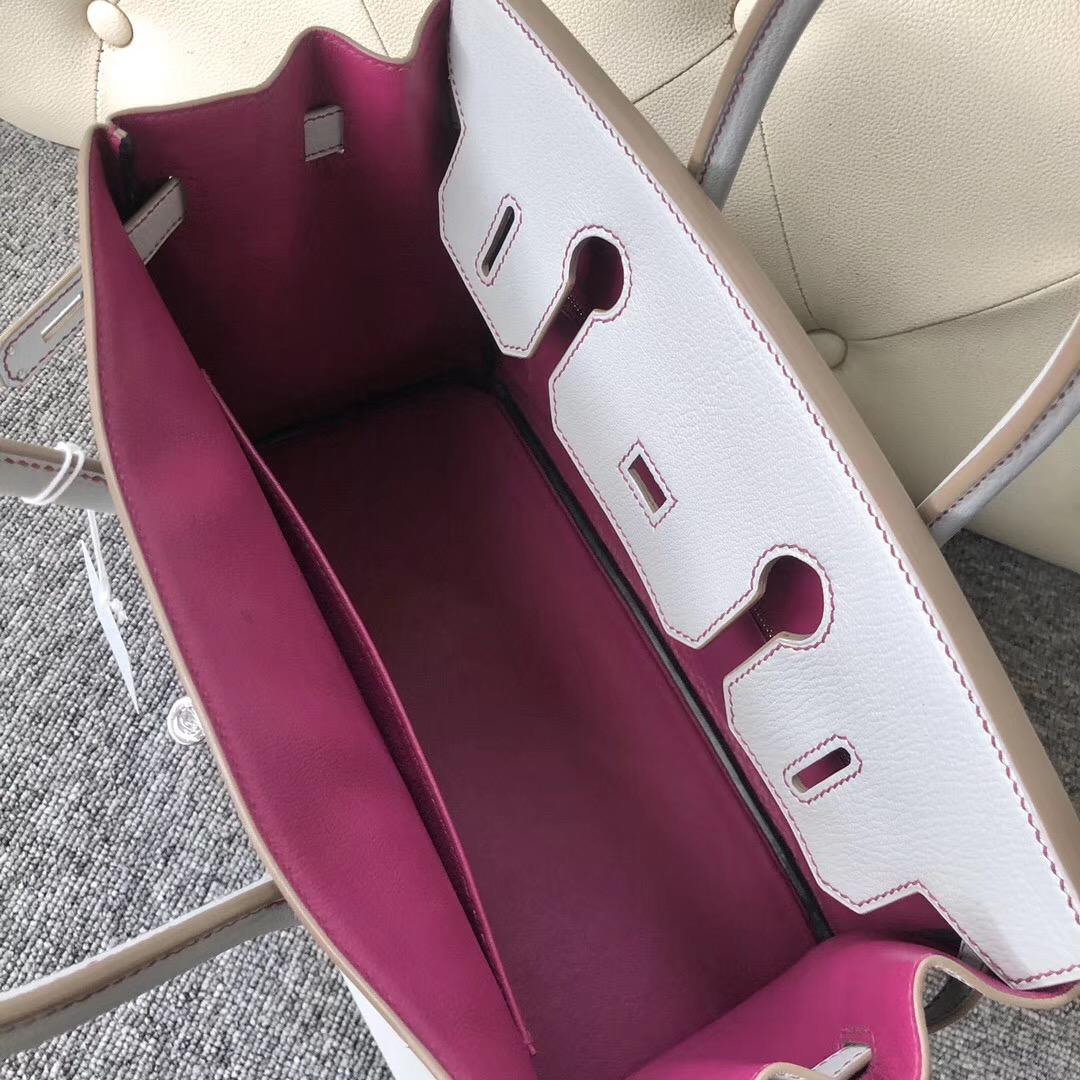 香港西貢區淺水灣 Hermes Birkin30cm CK80 Pearl Grey Chevre L3 Rose Purple