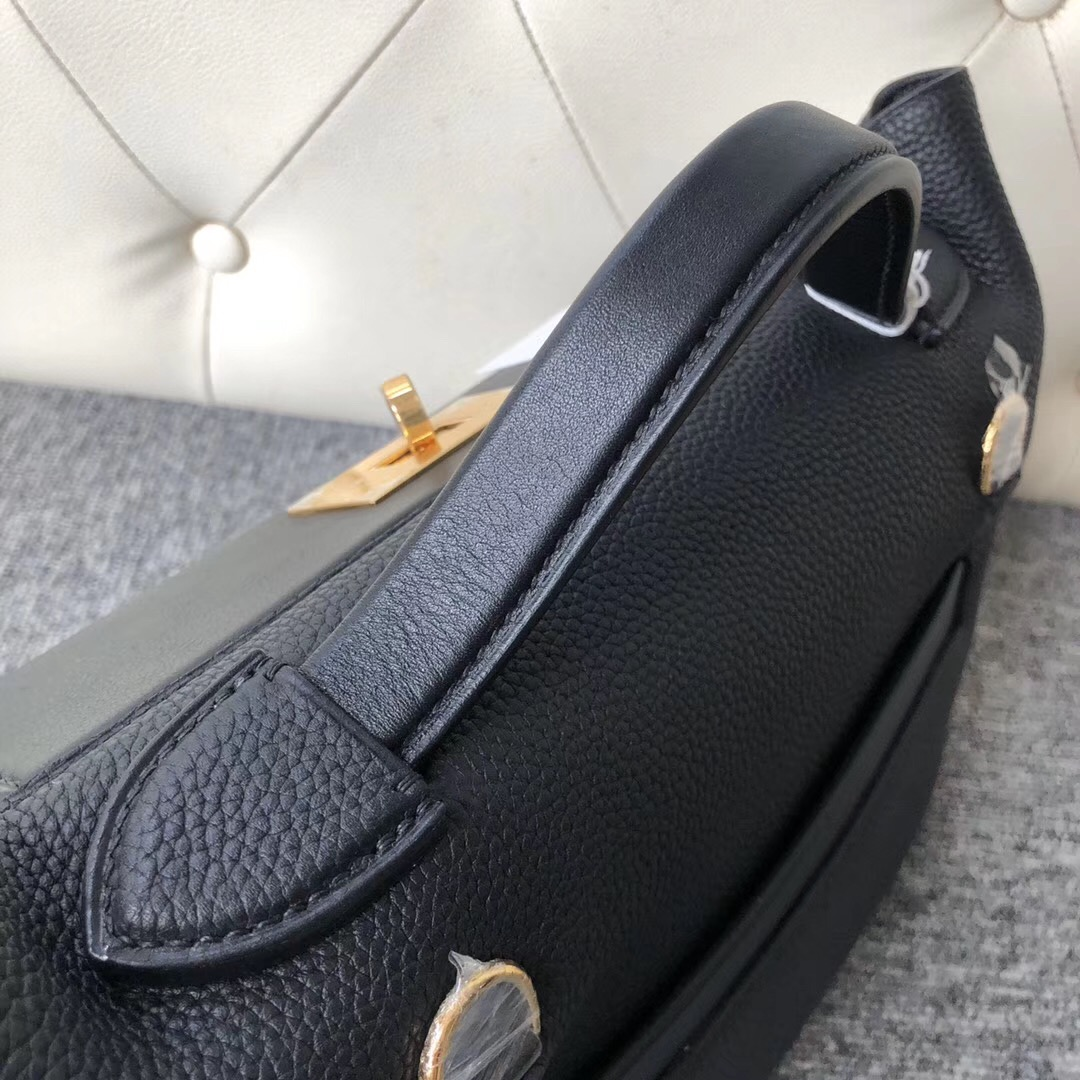 New Hermes Kelly 24/24 29cm CC89 Noir taurillon Maurice Swift calfskin