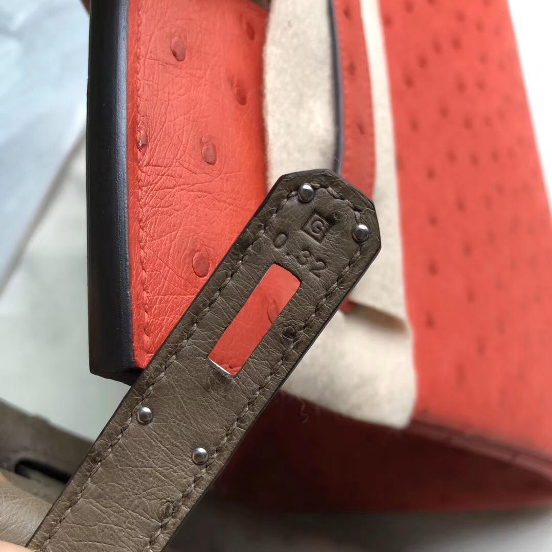 臺中市愛馬仕鉑金包Taiwan Hermes Birkin 30cm Ostrich CK18 Etoupe 大象灰