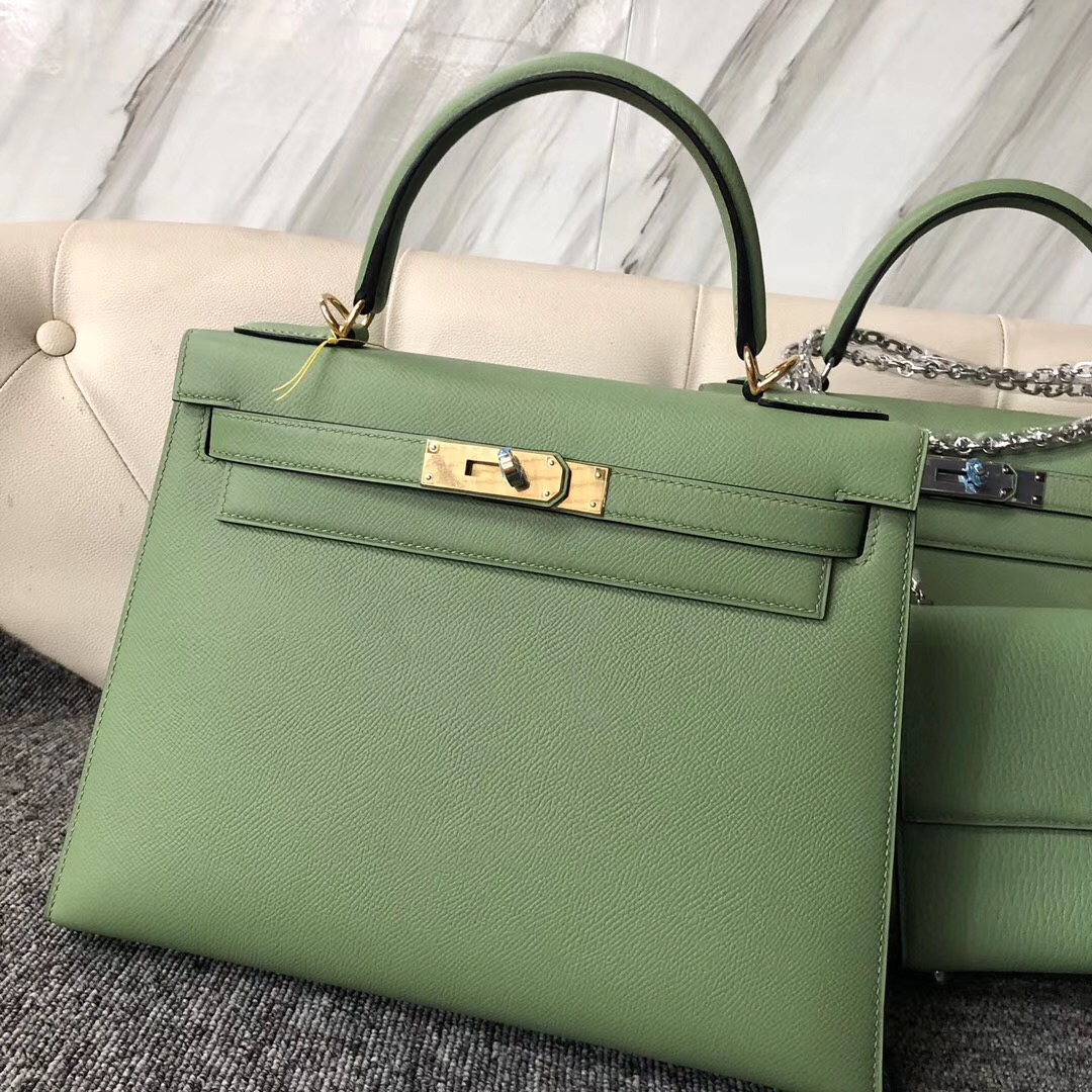 Qatar Kuwait Hermes Kelly 28cm 3I牛油果綠 Vert Criquet 蟋蟀綠