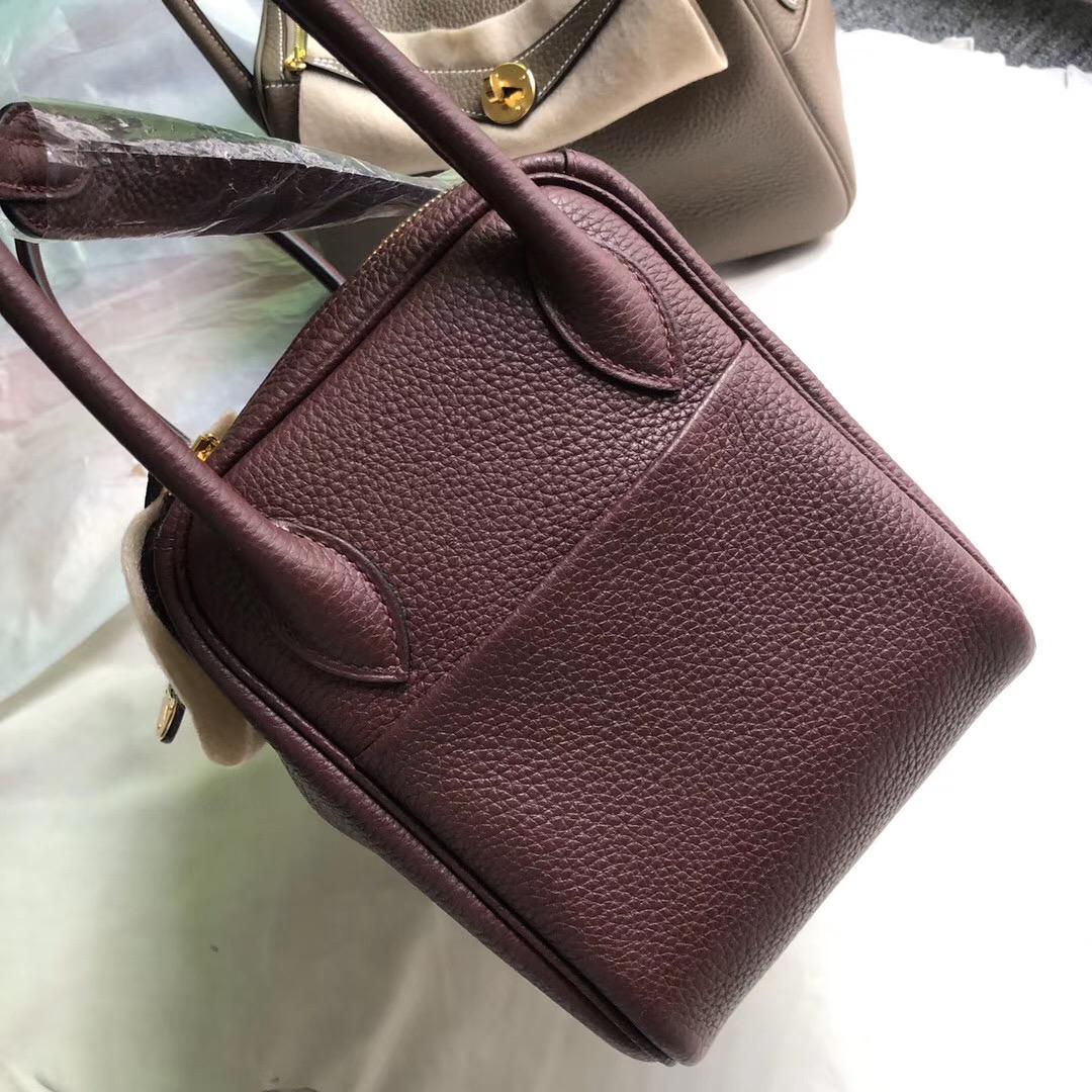 臺北市愛馬仕林迪包 Taiwan Hermes lindy 26cm ck57 Bordeaux 波爾多酒紅