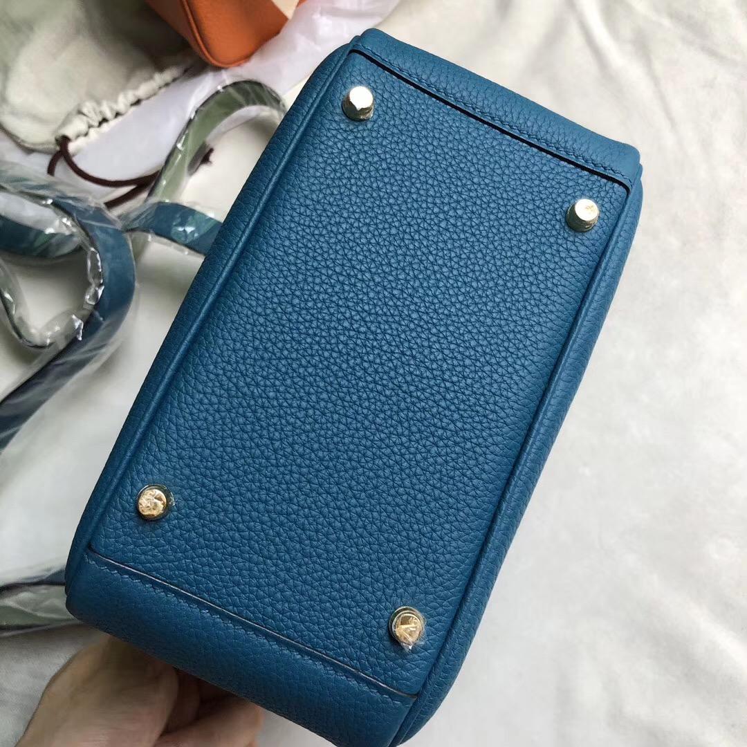 Hermes mini lindy clemence 19cm W0 博斯普魯斯綠 vert bosphore