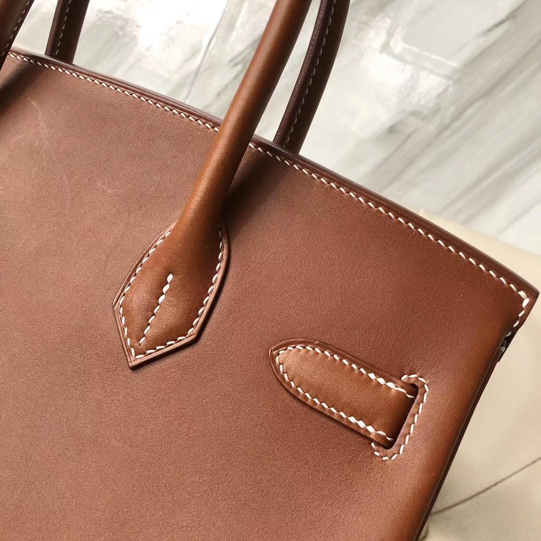 Hermes Birkin 30cm Barenia Natural 馬鞍皮 CC34 Fauve 幹邑原色 金棕色
