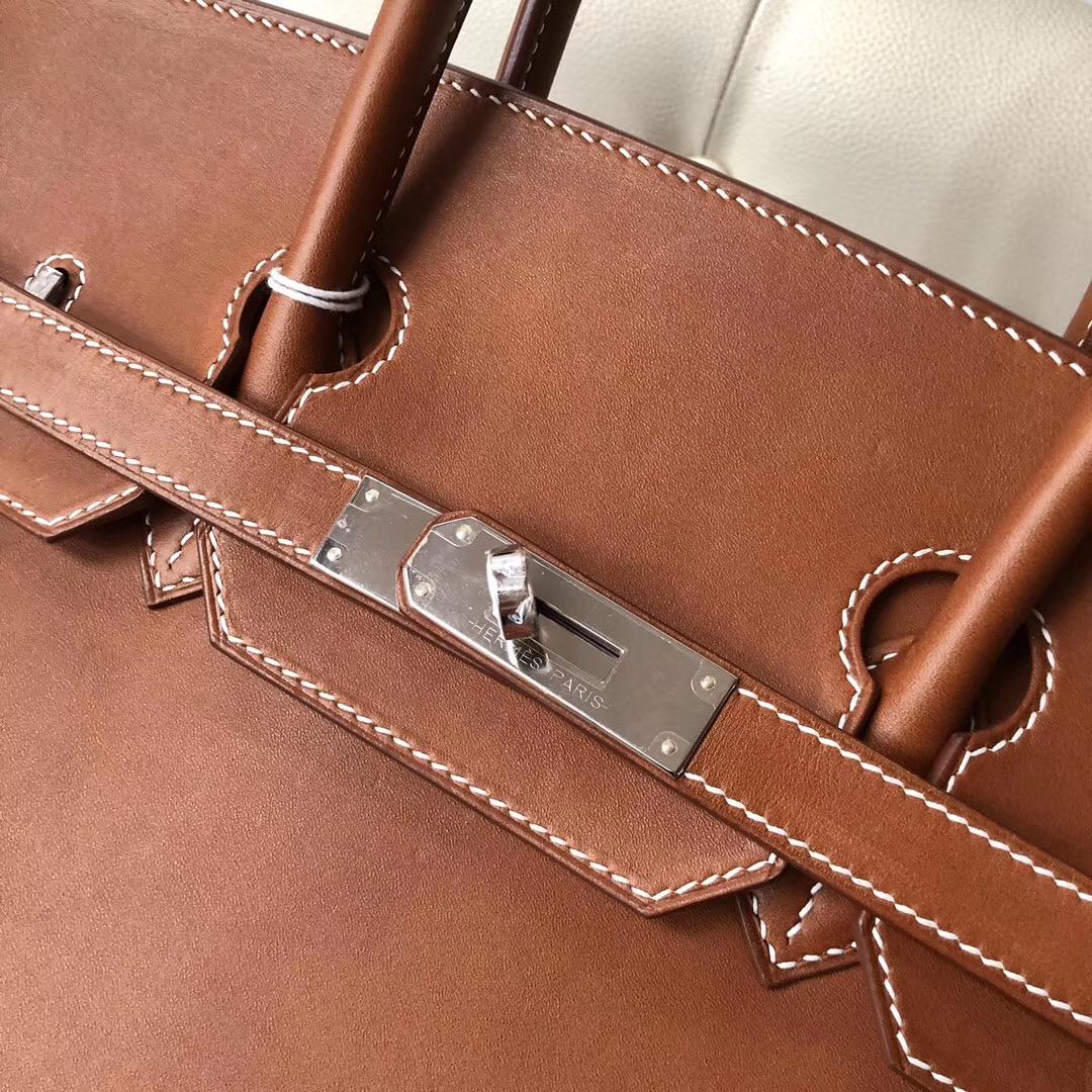 Canada Hermes Birkin 30cm Barenia Natural 馬鞍皮 CC34 Fauve 經典幹邑原色