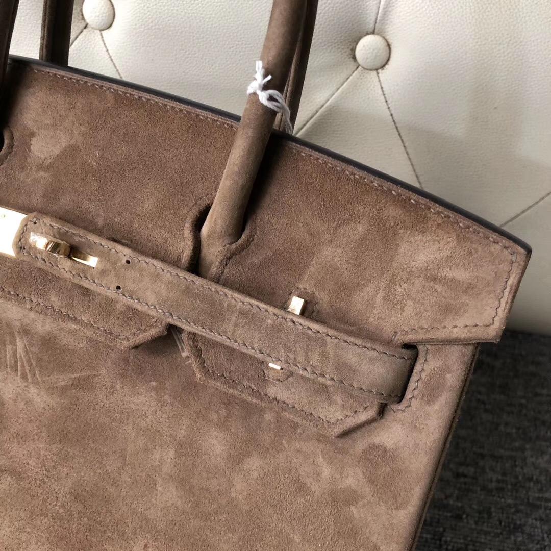 香港中西區愛馬仕鉑金包 Hermes Birkin 30cm麂皮CK18 Etoupe 大象灰