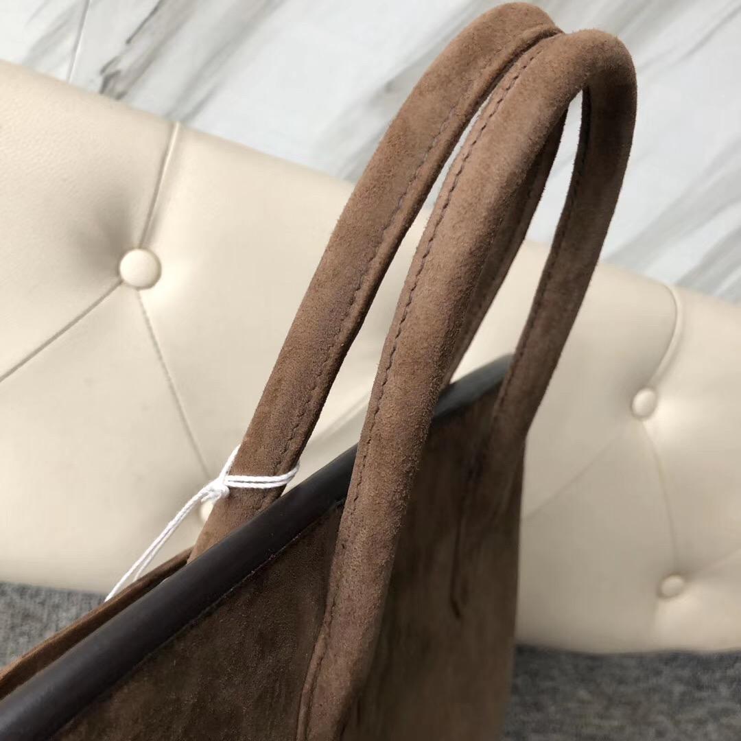 香港西貢區愛馬仕鉑金包 Hermes Birkin 30cm 羊皮反絨 麂皮 CK18 Etoupe 大象灰