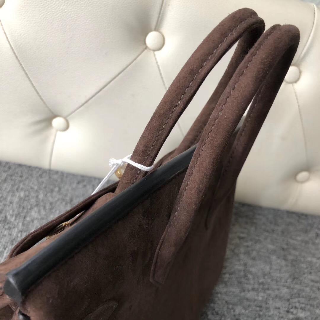 香港香港島中西區 東區 Hermes Birkin 25cm 羊皮反絨 麂皮 CK47 Coffee咖啡色