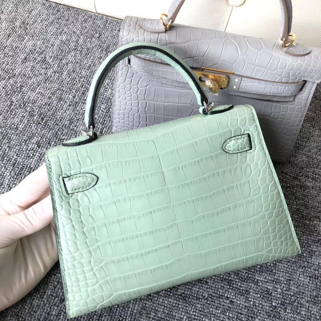 Taiwan Hermes Kelly Mini 2代 Alligator Crocodile 6U新薄荷綠 Peppermint Green