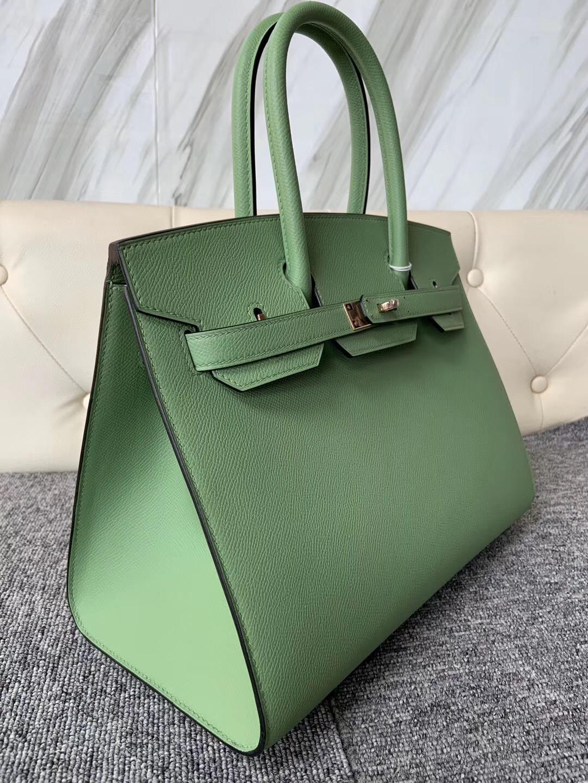 香港深水埗區愛馬仕外縫鉑金包 Hermes Birkin 30cm 3I牛油果綠 Vert Criquet