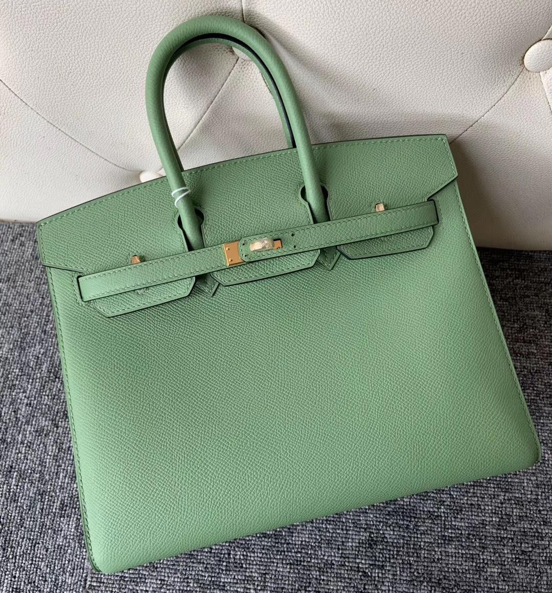 桃園市愛馬仕外縫鉑金包 Hermes Birkin 25cm 3I牛油果綠 Vert Criquet