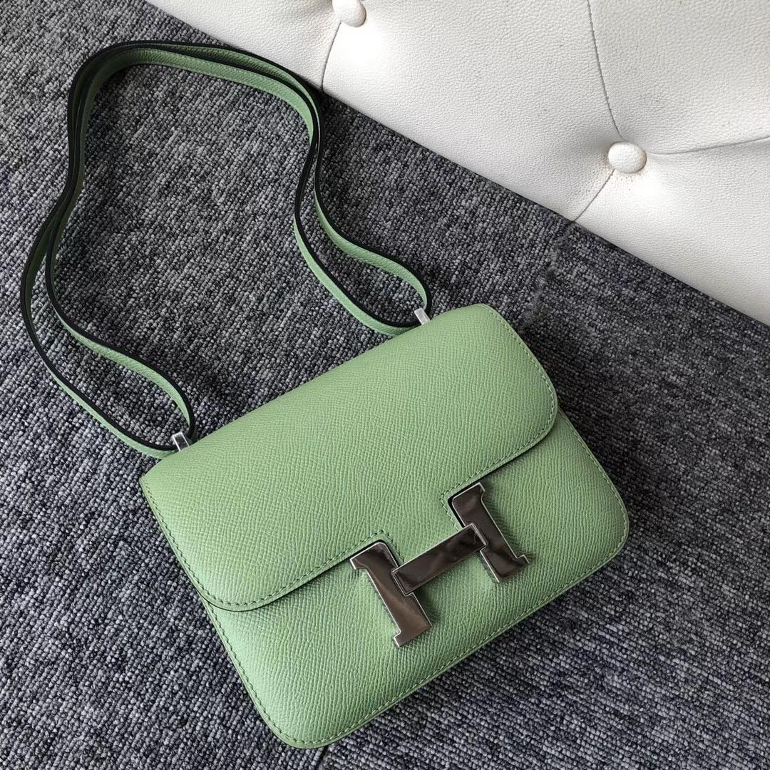 香港石澳 Hermes Constance 19cm Epsom 3I 牛油果綠 Vert Criquet 蟋蟀綠