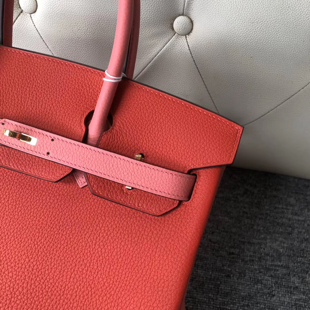 Hermes Birkin 30cm Hss So CKS3 Rouge De Cœur U5 Rose Lipstick唇膏粉