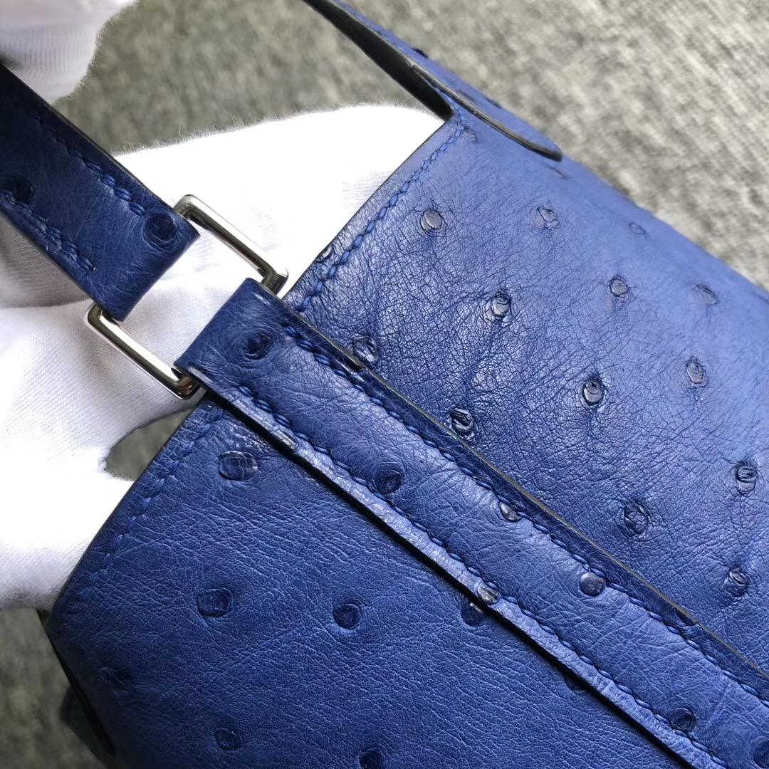 Hermes Picotin Lock 18cm Ostrich 南非鴕鳥皮 7T Blue eletric 電光藍