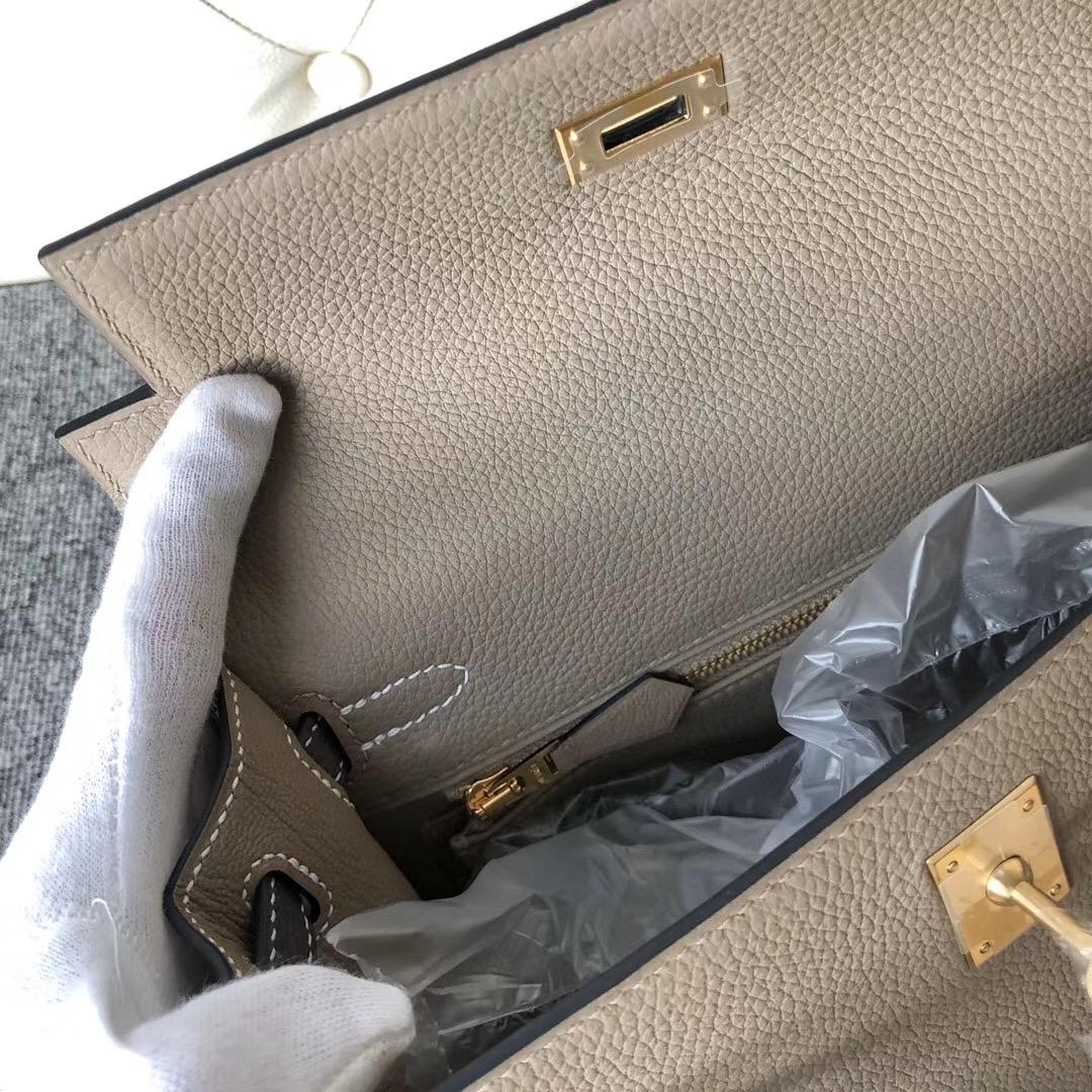 澳門半島 Hermes Kelly Sellier 25cm togo ck81斑鳩灰 ck18 大象灰