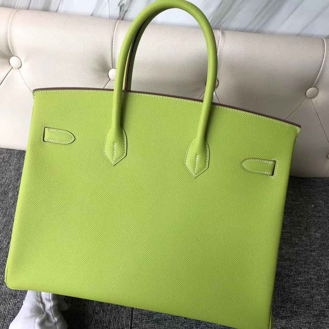 香港灣仔區愛馬仕鉑金包 Hermes Birkin 35cm Epsom 6R奇異果綠