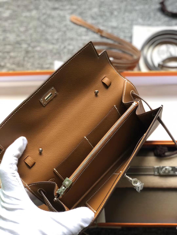 香港觀塘區 Hermes Portefeuille Kelly Classique To Go Epsom CK37 Gold