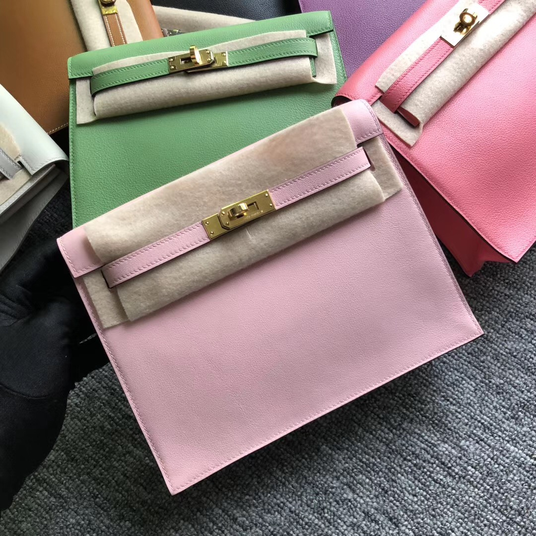 臺灣臺北市 Hermes Kelly Danse Evercolor 3Q Rose Sakura 新粉色