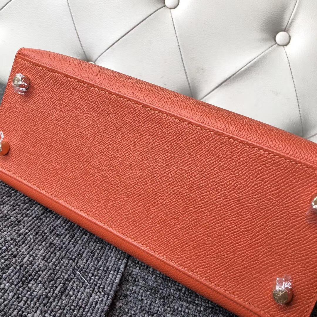 阿聯酋愛馬仕專賣店 Dubai Hermes Kelly 25 cm Epsom 9T Capucine 火焰橙
