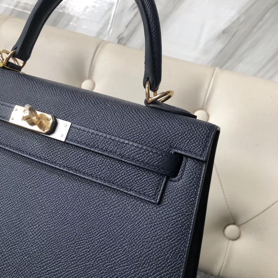 Dubai International Hermes Kelly 25 cm Epsom 2Z Blue Nuit 午夜蓝