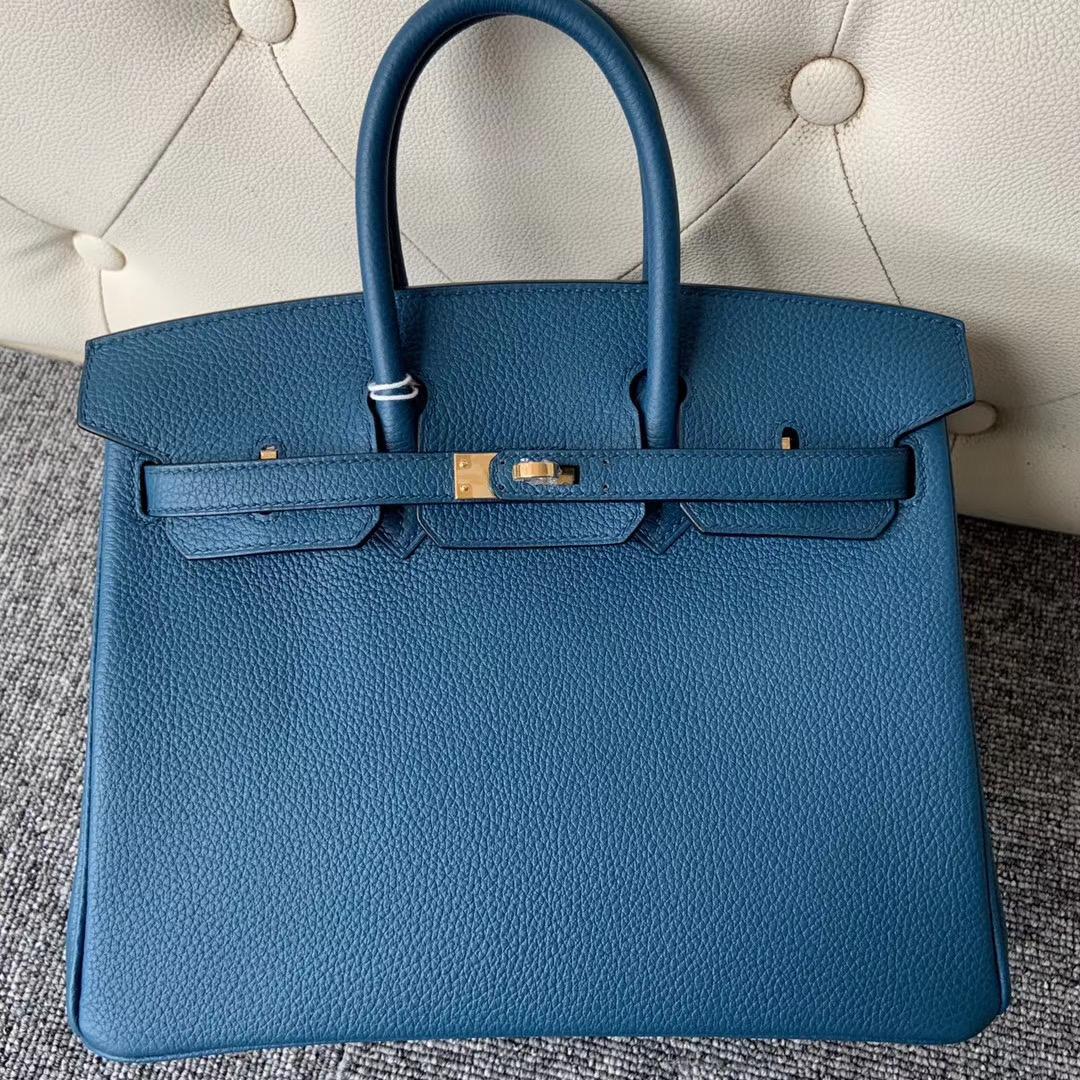 香港西貢區愛馬仕鉑金包 Hermes Birkin 25cm Togo 7C珊瑚藍 Coral Blue