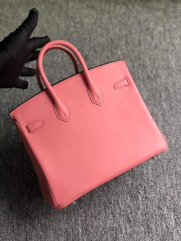 Qatar Kuwait Hermes Birkin 25cm Swift K4 Rose Dete 夏日粉
