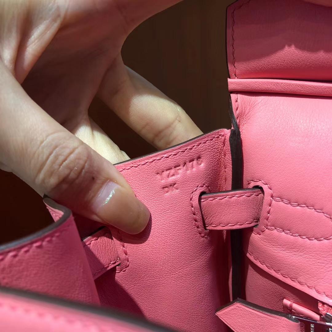 香港島中西區愛馬仕鉑金包 Hermes Birkin 25cm Swift K4 Rose Dete 夏日粉