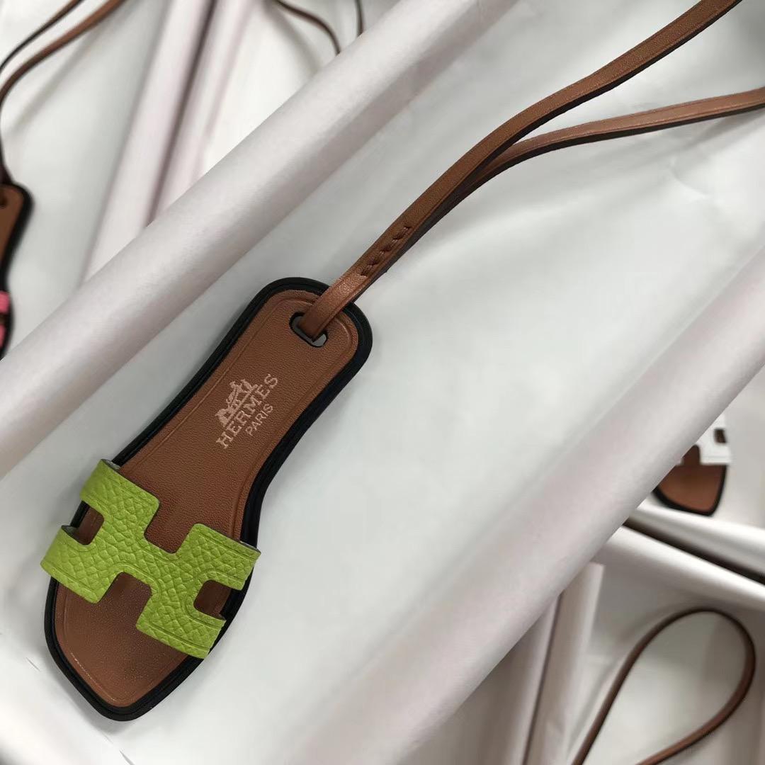 香港九龍城區 葵青區 愛馬仕迷妳拖鞋小掛件 Hermes Mini slipper Small pendant