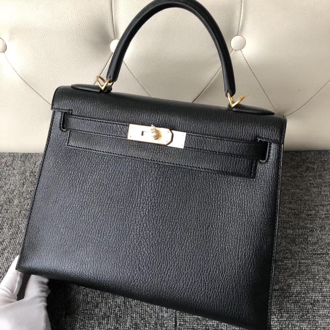 香港東區 南區 愛馬仕 Hermes Kelly 28cm Chevre 山羊皮 CK89 黑色 Black
