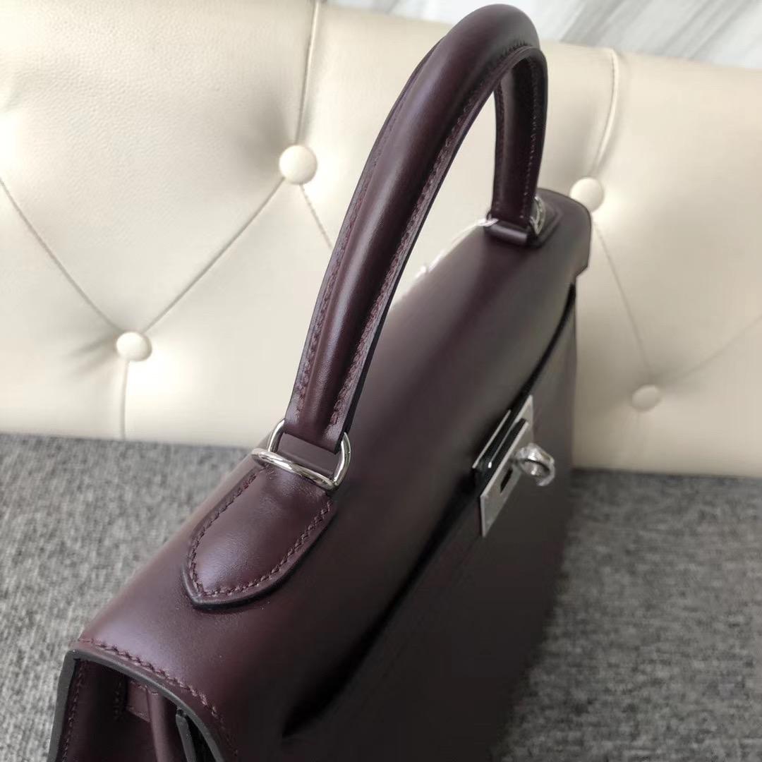 香港島中西區 Hermes Kelly 32cm Box Leather CK57波爾多酒紅 Bordeaux