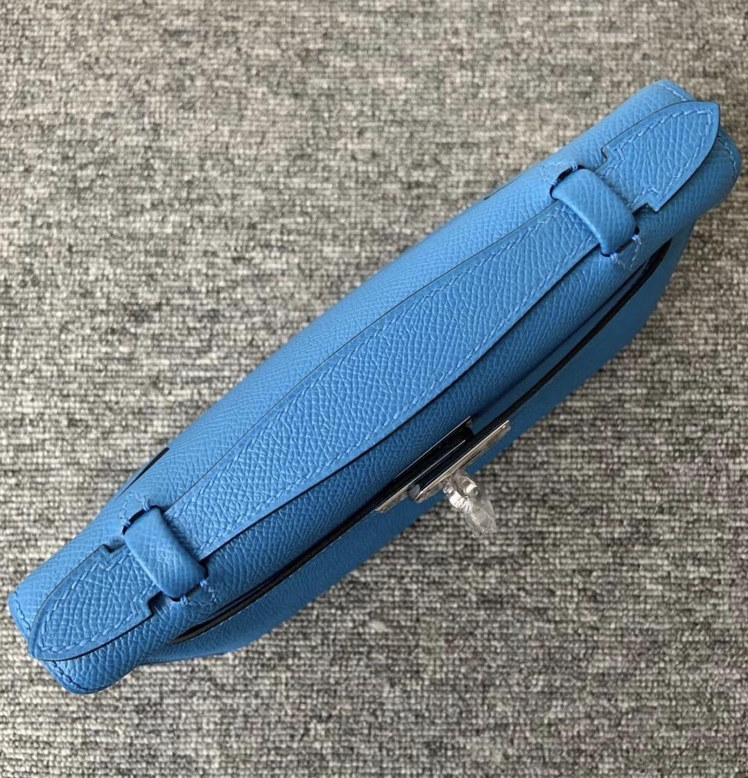 香港九龍城區 Hermes MiniKelly pochette B3 坦桑尼亞藍 Blue Zanzibar