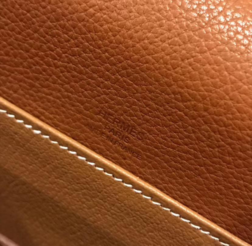 Hermes Roulis 19cm 23cm 馬鞍皮 Barenia Novillo CK37 Gold 金棕色 荔枝紋
