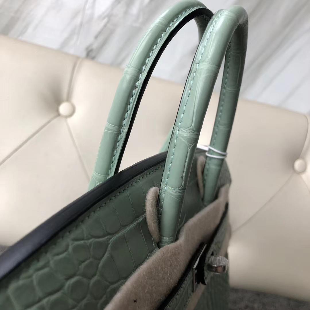 臺灣臺北市鉑金包愛馬仕多少錢 Hermes Birkin 25cm 6U mint green 新薄荷綠