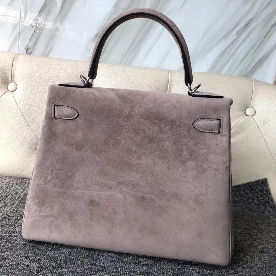 香港東區愛馬仕凱莉包價格 Hermes Kelly 28cm Sellier 麂皮 M8 gris asphalte