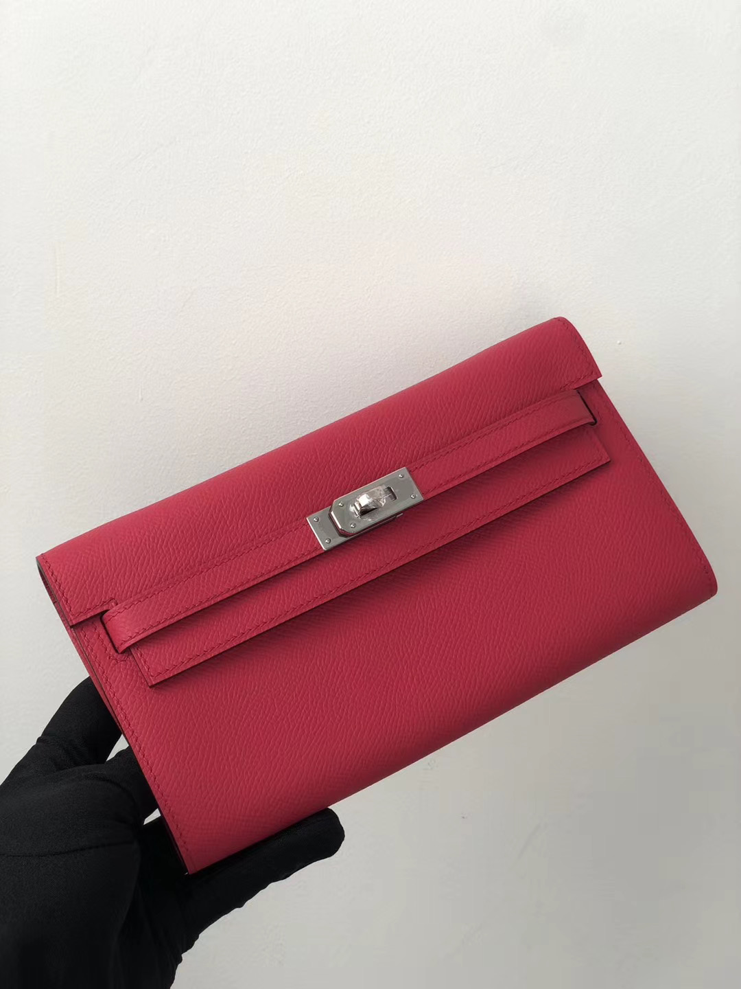 Hermes Portefeuille Kelly Classique To Go Epsom i6 rose extreme 極致粉