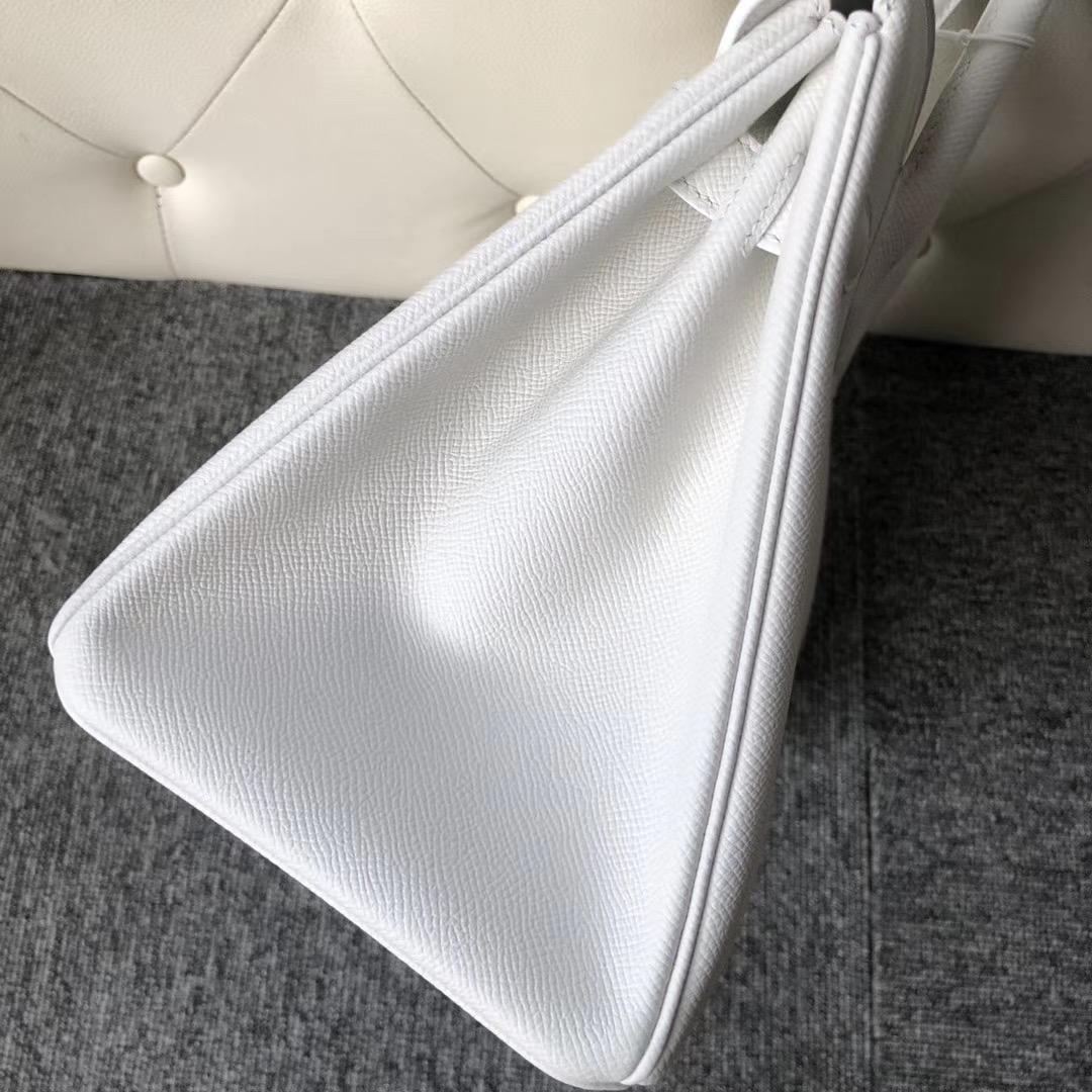 臺灣臺北市愛馬仕鉑金包 Hermes Birkin 30cm Epsom 01 Pure white 純白色