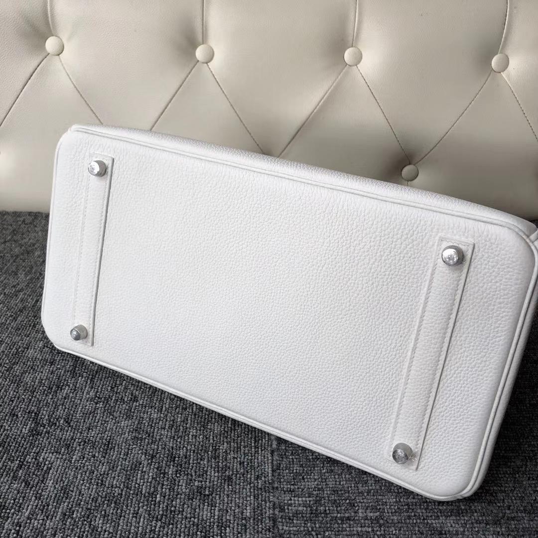 桃園市愛馬仕鉑金包價格表 Hermes Birkin 35cm togo 01 Pure white 純白色