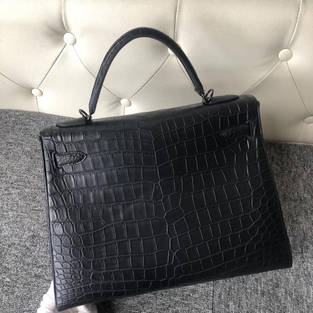 香港北區 Hermes Kelly 32cm So Black Matte Nilo Crocodile Ck89 Nilo 黑色