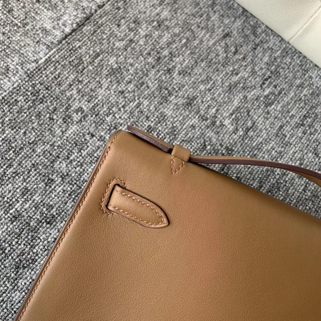 香港西貢區 Hermes Mini kelly pochette Swift D0 威瑪犬米色 beige de weimer