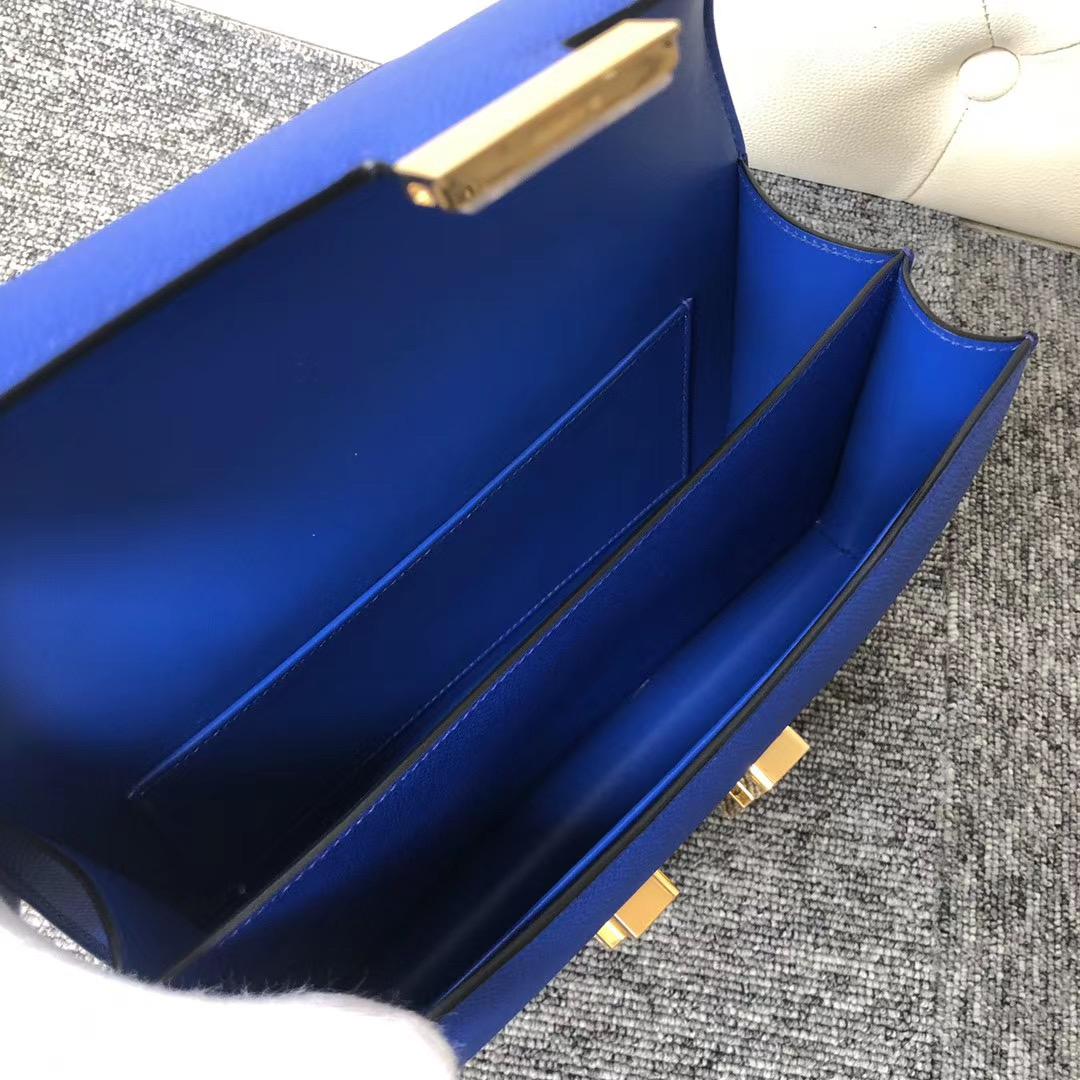 香港觀塘區 Hermes Constance Elan 26cm Epsom 7T 電光藍 Blue Electric